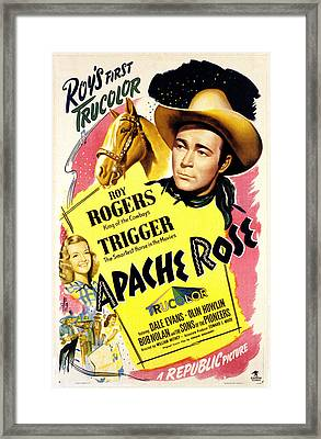 Apache Rose, Roy Rogers, Dale Evans Framed Print by Everett