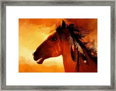Apache Framed Print by Valerie Anne Kelly