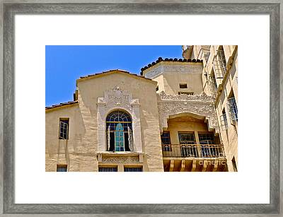 Apartment Surfing Framed Print by Gwyn Newcombe