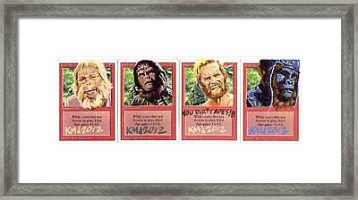 Apes Is Apes Framed Print by Ken Meyer jr