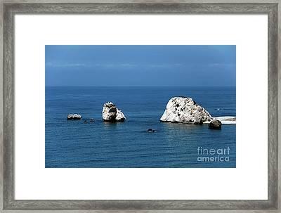Aphrodite's Rocks Framed Print by John Rizzuto