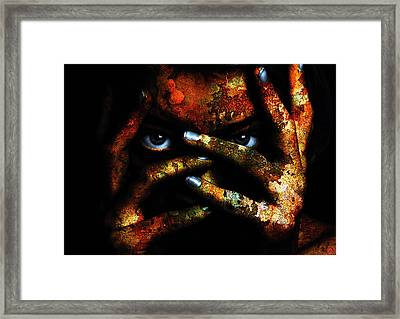 Digital Manipulation Framed Print featuring the digital art Apocalyptic Skin by Marian Voicu