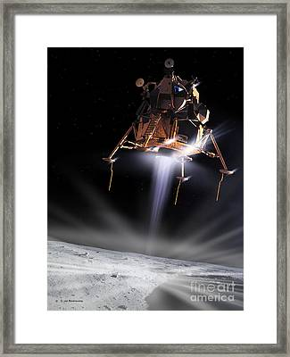 Apollo 11 Moon Landing Framed Print by Detlev Van Ravenswaay and Photo Researchers