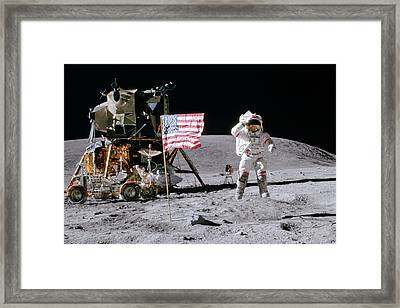 Apollo 16 Framed Print by Peter Chilelli