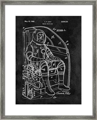 Apollo Space Suit Patent Framed Print by Dan Sproul