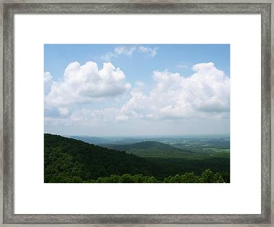 Appalachian Valley - 8 Framed Print by Donovan Hubbard