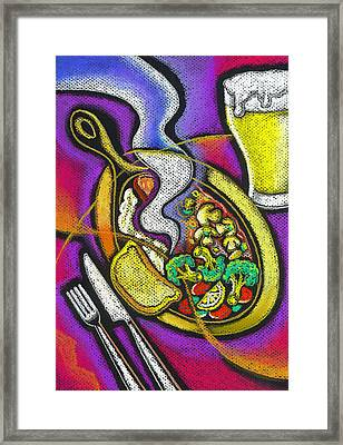 Appetizing Dinner Framed Print by Leon Zernitsky