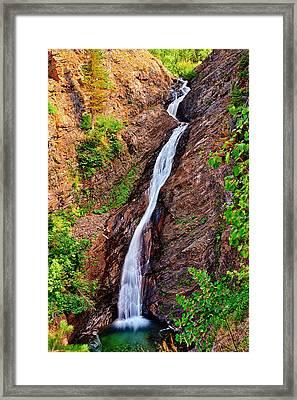 Appistoki Falls Framed Print by Greg Norrell