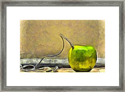 Apple Phone Framed Print by Leonardo Digenio