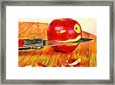 Apple Strikes Back Framed Print by Leonardo Digenio
