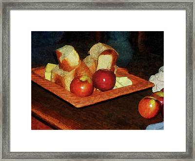 Apples And Bread Framed Print by Susan Savad
