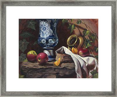 Apples And Oranges Framed Print by Timothy Jones