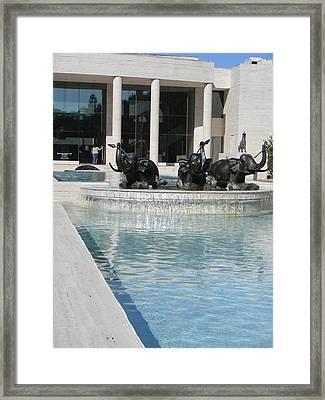 Appleton Reflection Pool Framed Print by Warren Thompson