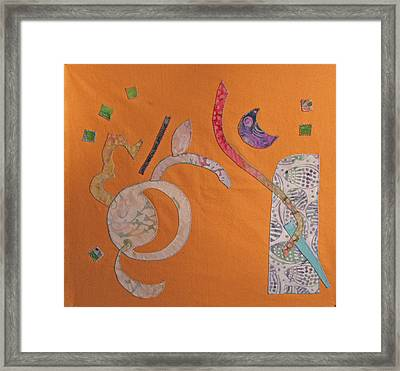 Applique 2 Framed Print by Eileen Hale