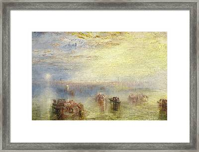 Approach To Venice Framed Print by Joseph Mallord William Turner