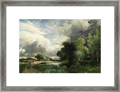 Approaching Storm Clouds Framed Print by Thomas Moran