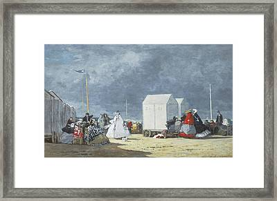 Approaching Storm Framed Print by Eugene Louis Boudin