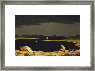 Approaching Thunderstorm Framed Print by Martin Heade