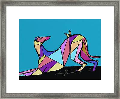 Greyhound Colors Framed Print by Terry Chacon