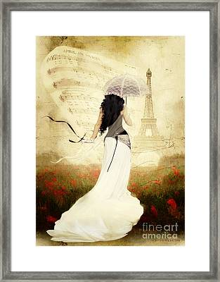 April In Paris Framed Print by Shanina Conway