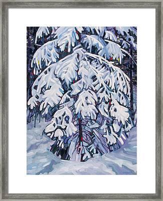 April Snow Framed Print by Phil Chadwick