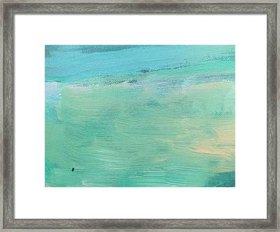 Aqua Breeze Framed Print by Malin Schramm