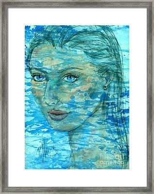 Aqua Framed Print by P J Lewis
