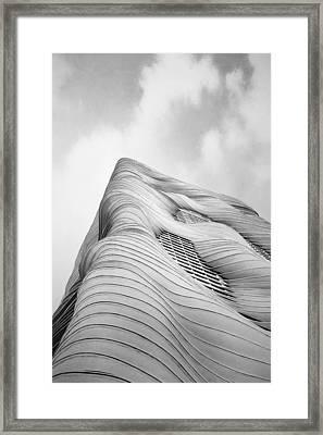Aqua Tower Framed Print by Scott Norris