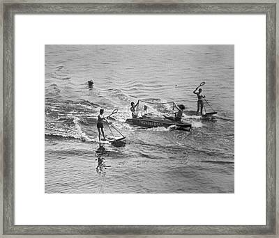 Aquaplane Tennis Framed Print by Underwood Archives