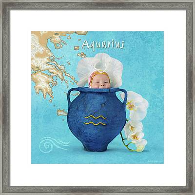Aquarius Framed Print by Anne Geddes