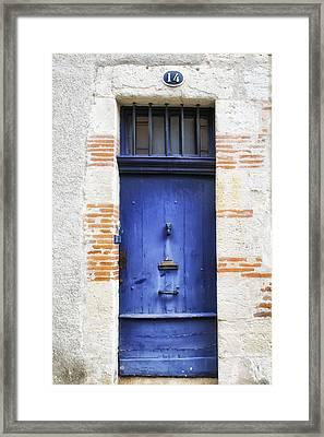 Aquitaine Blue Door 2 Framed Print by Georgia Fowler