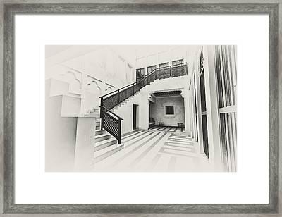 Arabian Courtyard Framed Print by John Grummitt
