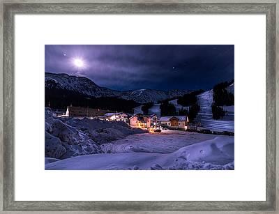 Arapahoe Basin Full Moon Night Framed Print by Michael J Bauer