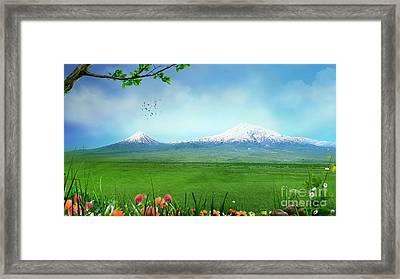 Araratian Field Framed Print by Bedros Awak