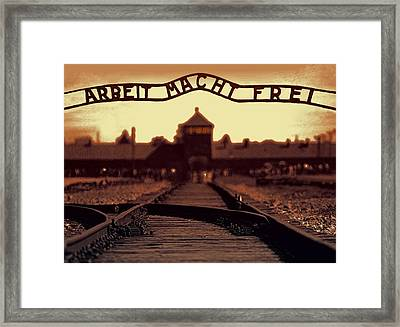 Arbeit Macht Frei Framed Print by Daniel Hagerman