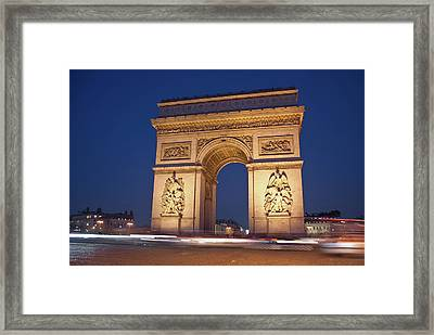 Arc De Triomphe, Paris, France Framed Print by David Min