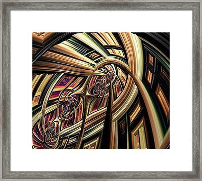 Arch Abstract Framed Print by Marianna Mills