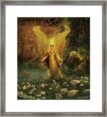 Archangel Azrael Framed Print by Steve Roberts