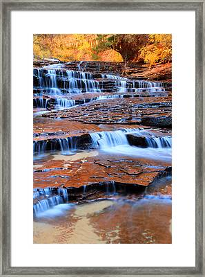 Archangel Falls In Zion Framed Print by Pierre Leclerc Photography