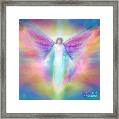 Archangel Raphael Healing Framed Print by Glenyss Bourne