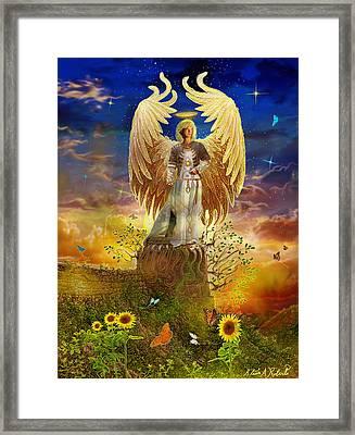 Archangel Uriel Framed Print by Steve Roberts