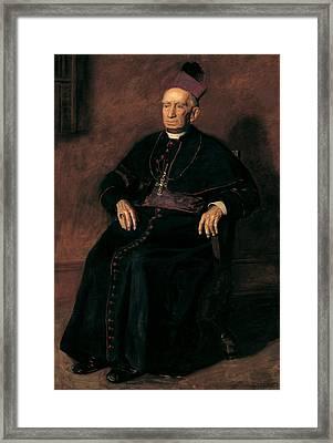 Archbishop William Henry Elder Framed Print by Thomas Eakins