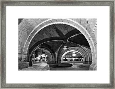 Arched In Black And White Framed Print by CJ Schmit