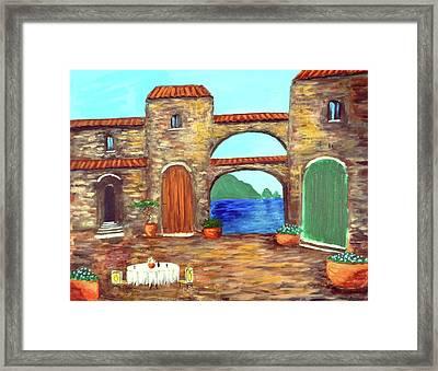 Arches Of Amalfi  Framed Print by Larry Cirigliano