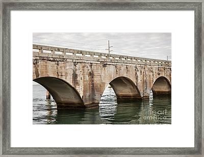 Arches Of East Coast Railway In Florida Keys Framed Print by Elena Elisseeva