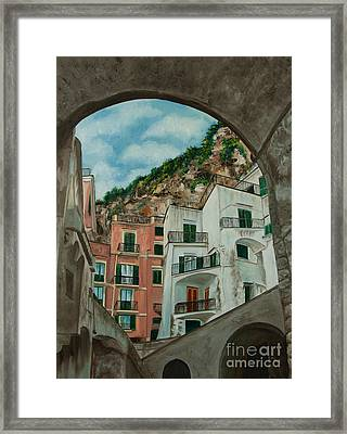 Arches Of Italy Framed Print by Charlotte Blanchard