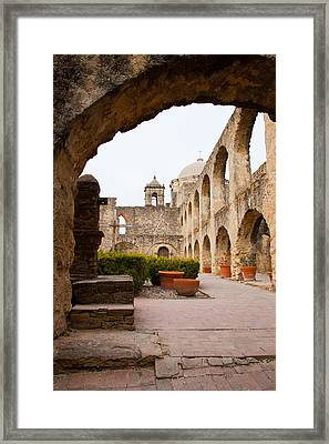 Arches Of Mission San Jose Framed Print by Iris Greenwell
