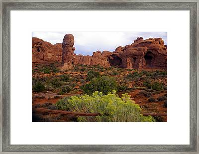 Arches Park 1 Framed Print by Marty Koch