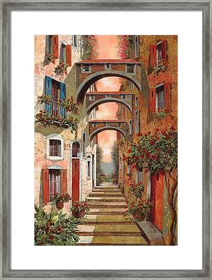 Archetti In Rosso Framed Print by Guido Borelli