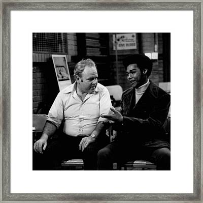 Archie And Lionel - All In The Family 1971 Framed Print by Mountain Dreams